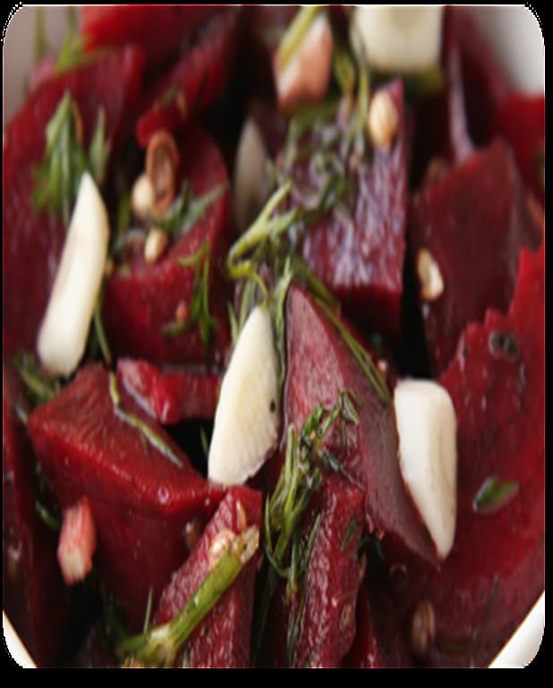 Salade tiède de betteraves