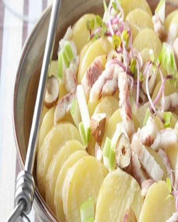Salade tiède de pommes de terre à l'anguille fumée