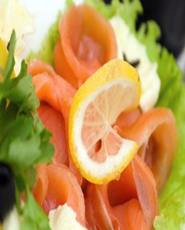 Saumon fumé en salade