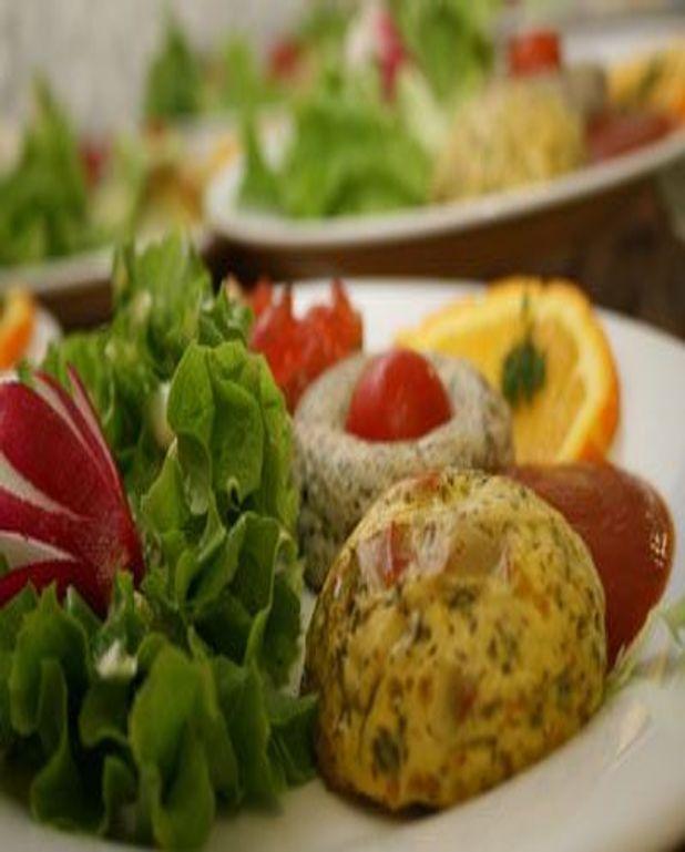 Soufflé de courgettes et poivron rouge