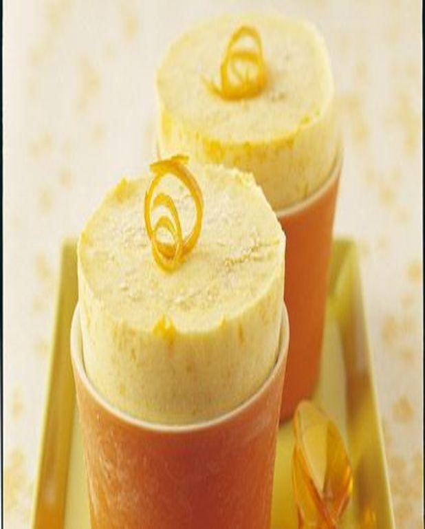 Soufflé glacé à l'orange