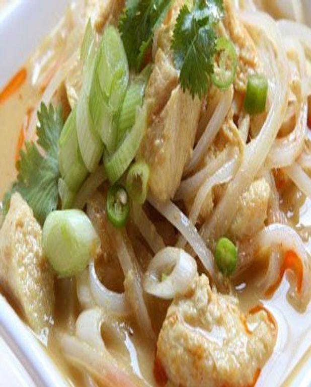 Soupe au poulet et au soja