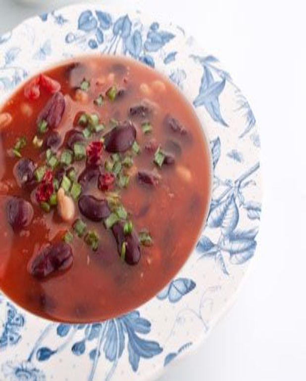 Soupe de haricots rouges et marrons