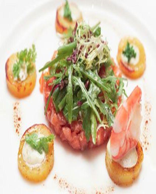 Tartare de saumon au gingembre