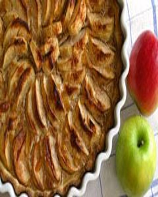 Tarte aux pommes et aux noisettes sans oeuf