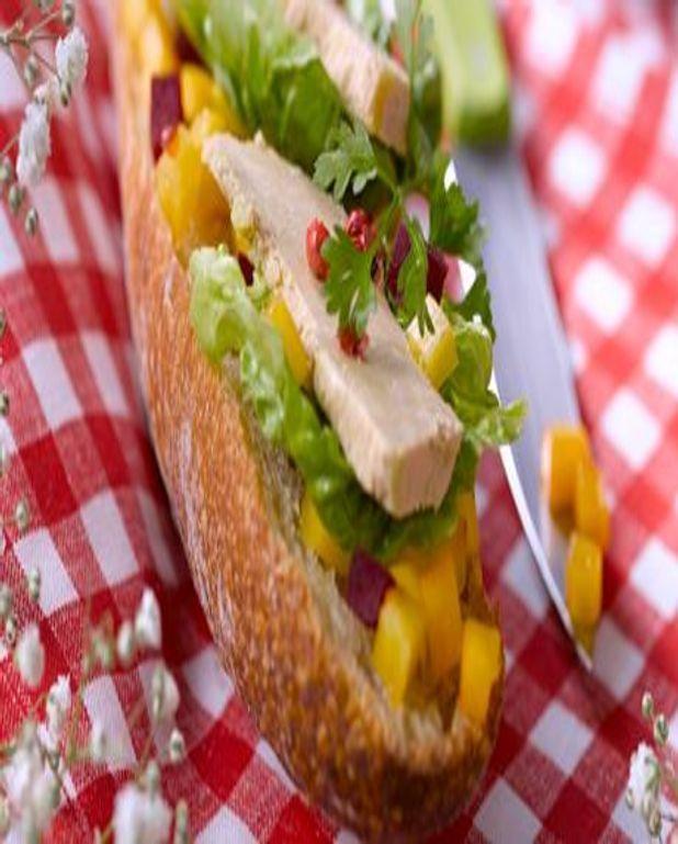 Tartines au Foie Gras aux fruits et légumes d'ici et d'ailleurs