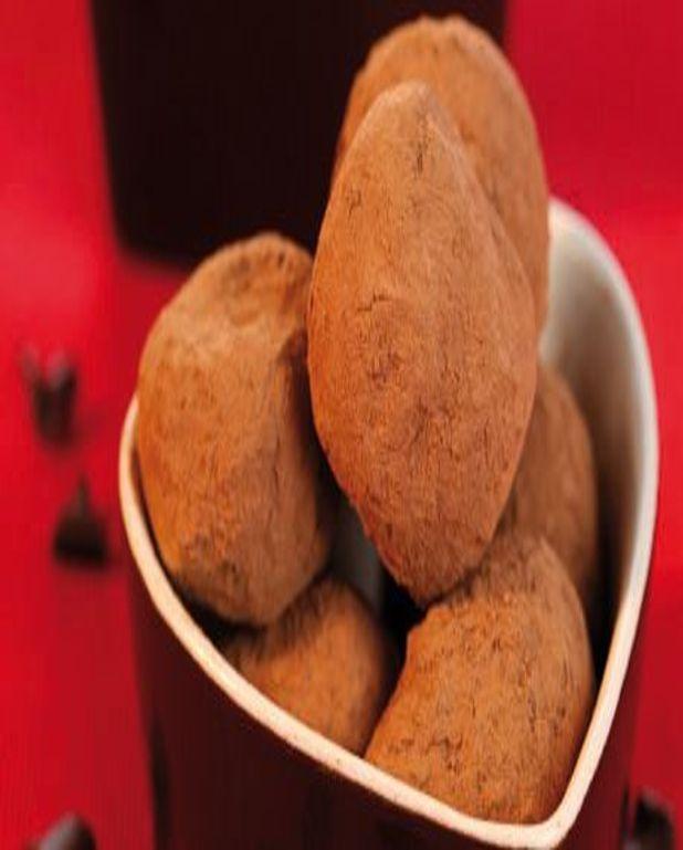 Truffes au chocolat aux raisins