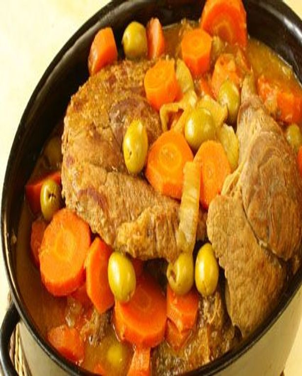 Veau aux olives et aux carottes