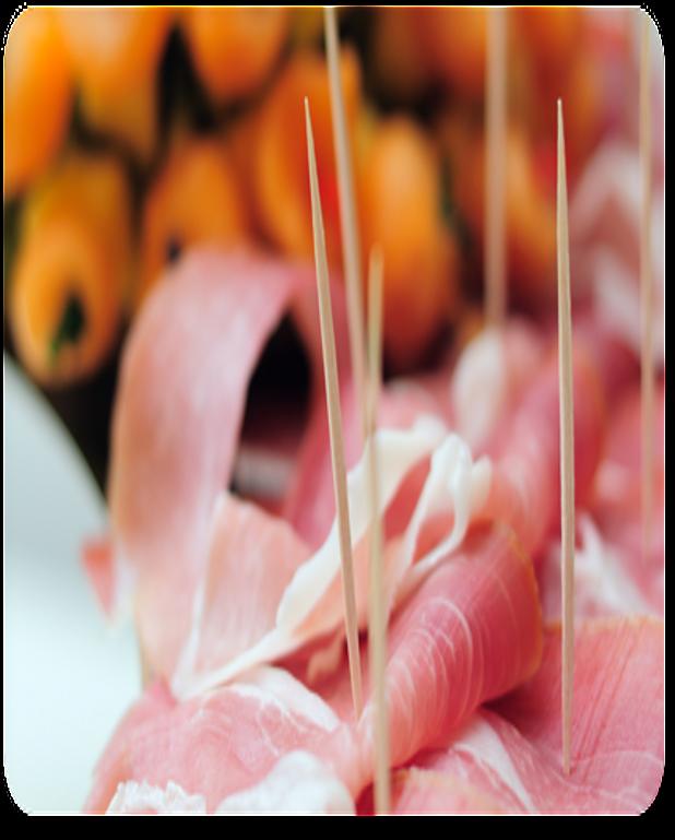 Verrine de melon et jambon de Parme