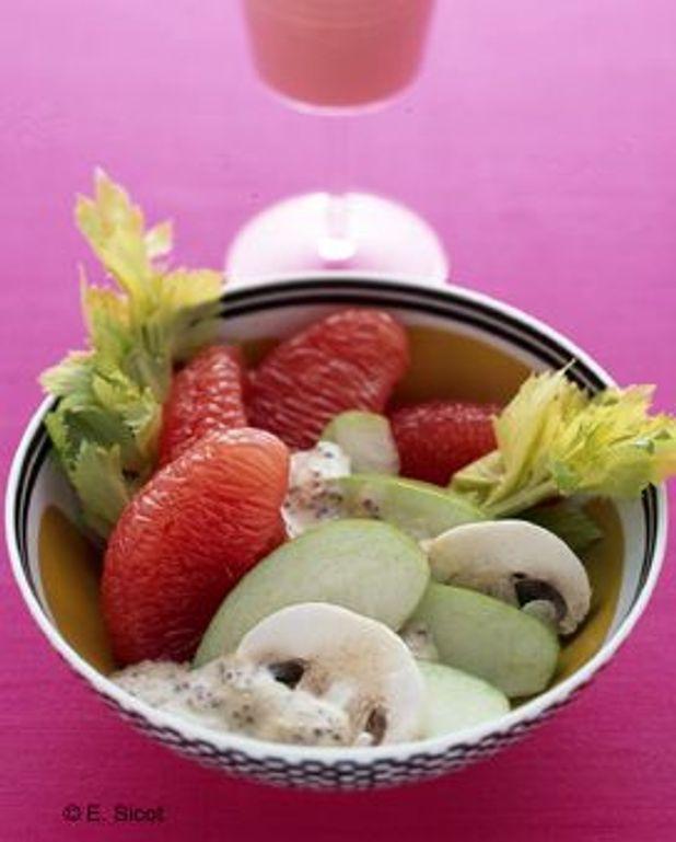 Salade de fruits et légumes à la moutarde