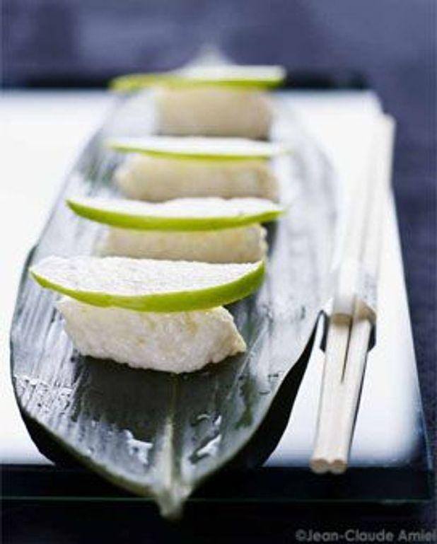 Sushis de pommes vertes