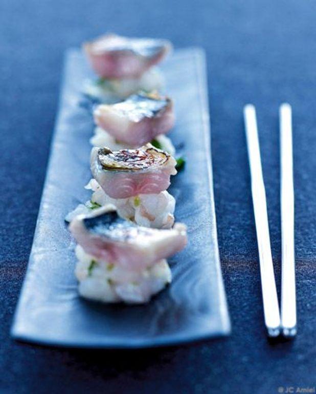 Daurade, huîtres et maquereau caramélisé