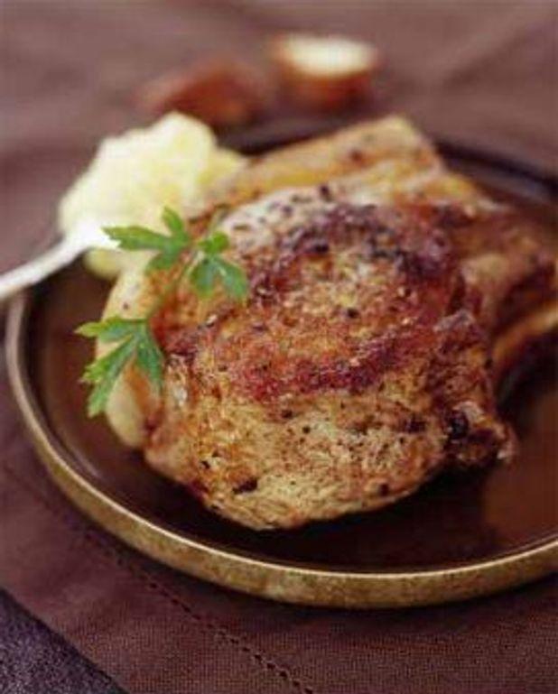 Côtes de porc noir aux poivres