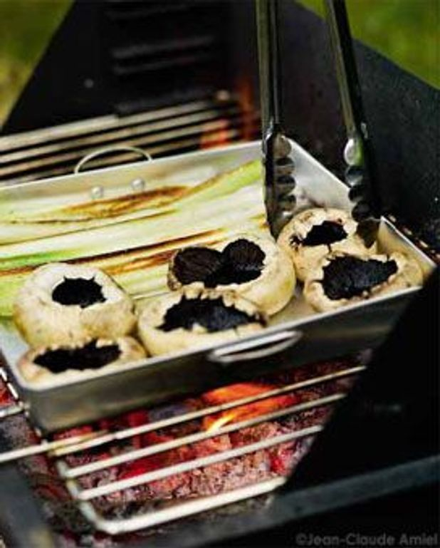 Légumes laqués au barbecue
