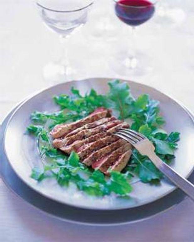 Tagliatta rucola (filet de boeuf sur rucola)