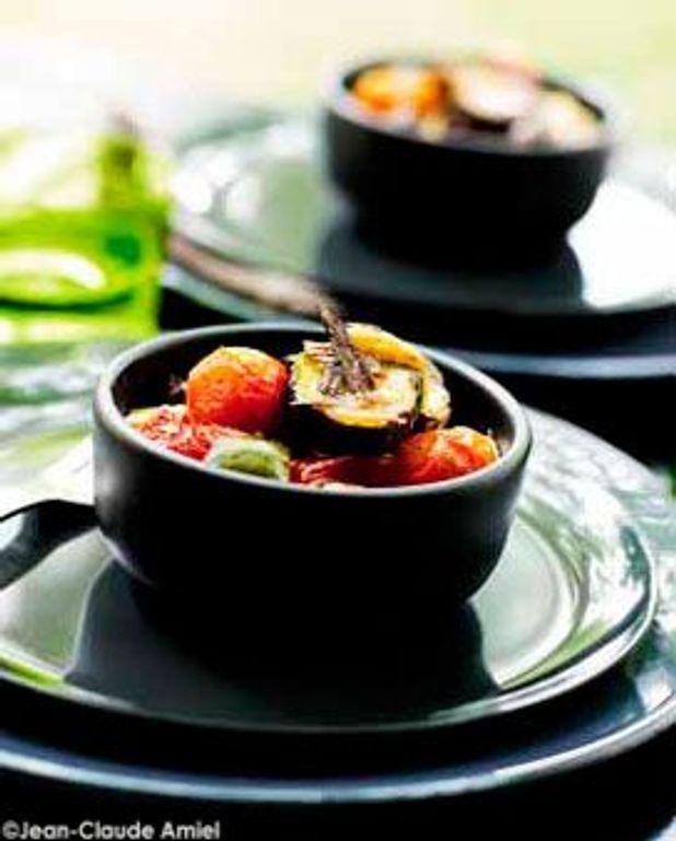 Tian de légumes aux olives et à la feta