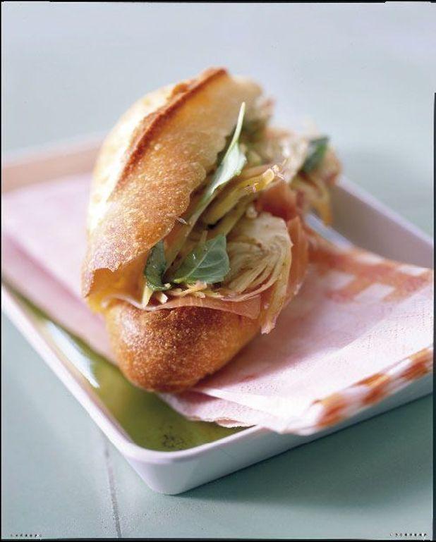 Sandwichs artichauts-parme