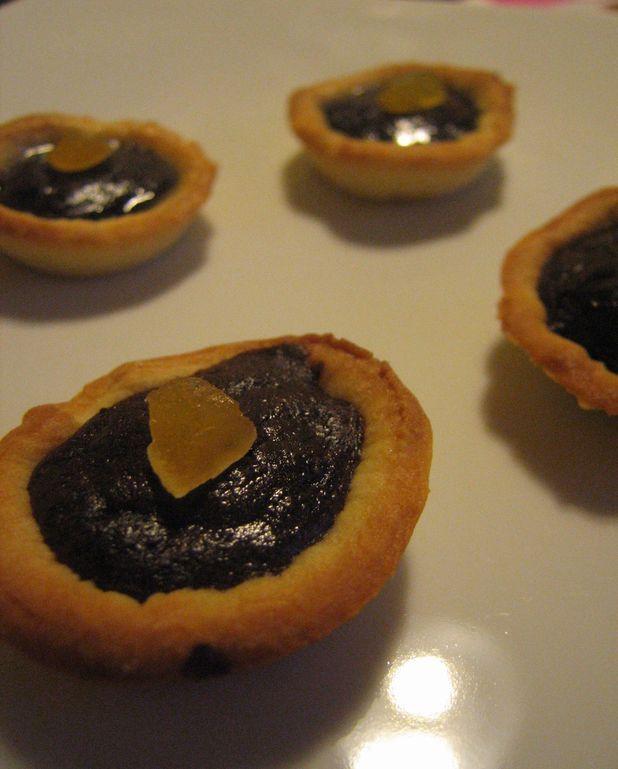 Mini tartelettes choco-gingembre