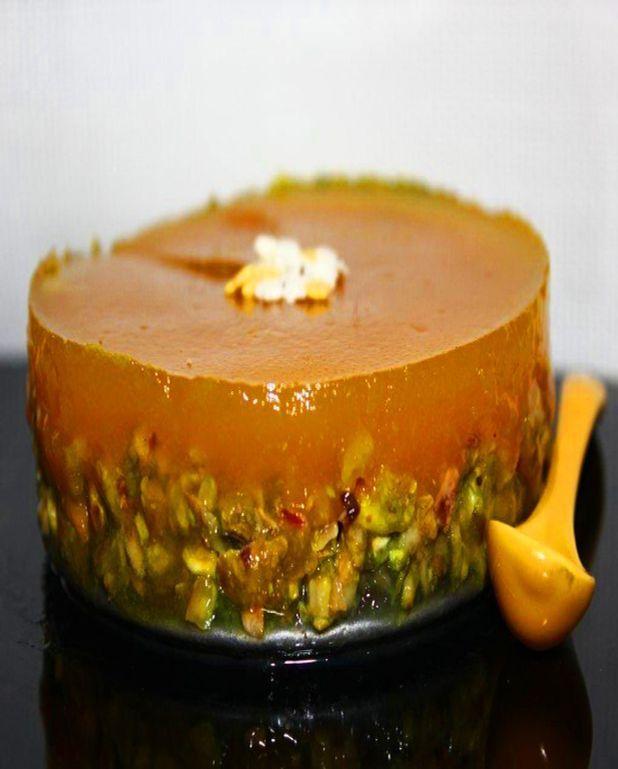 Bavarois chocolat papaye pistache