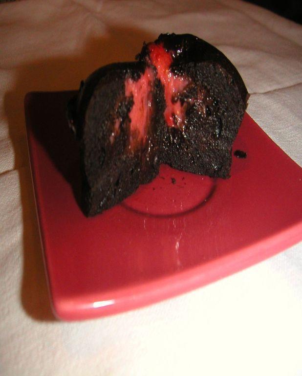 Bouchées fraise / chocolat