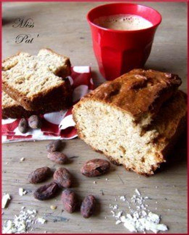 Cake au beurre de cacao, huile de coco et menthe poivrée