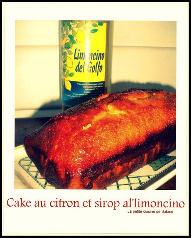 Cake au citron et sirop al'limoncello