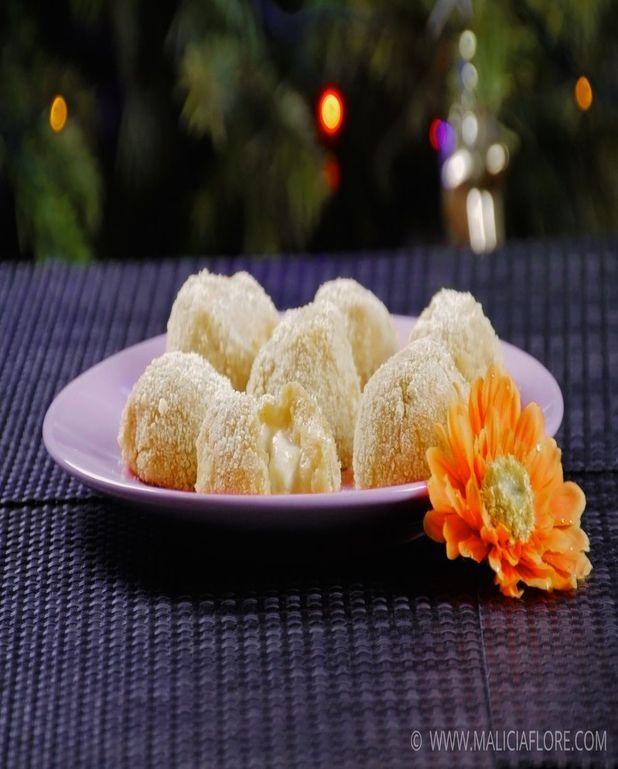 Croquettes de chou-fleur et pommes de terre au pesto rosso et mozzarella