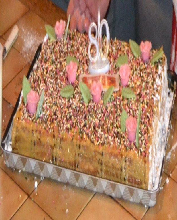 Gâteau aux petits beurre et café