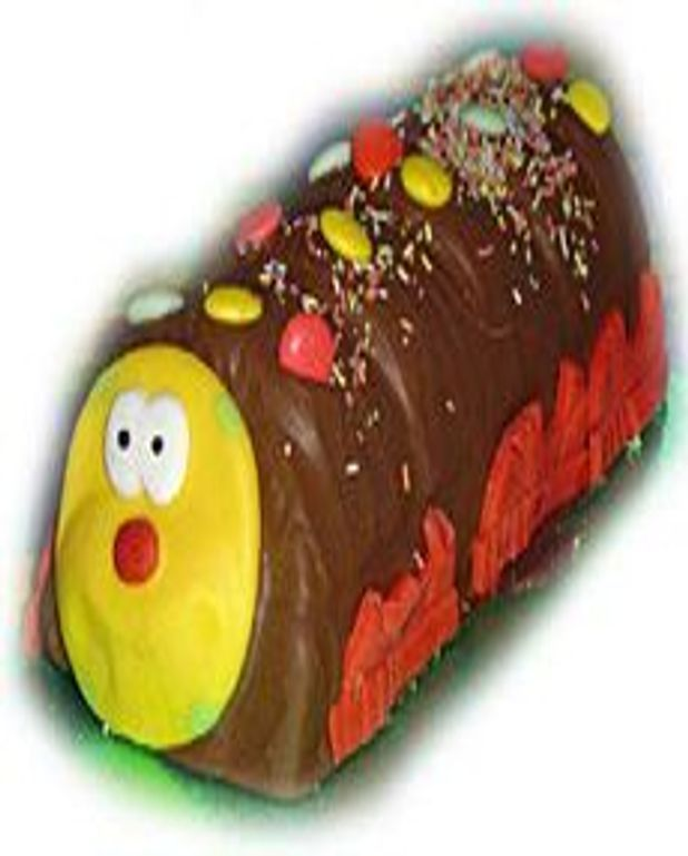 Gâteau chenille au chocolat