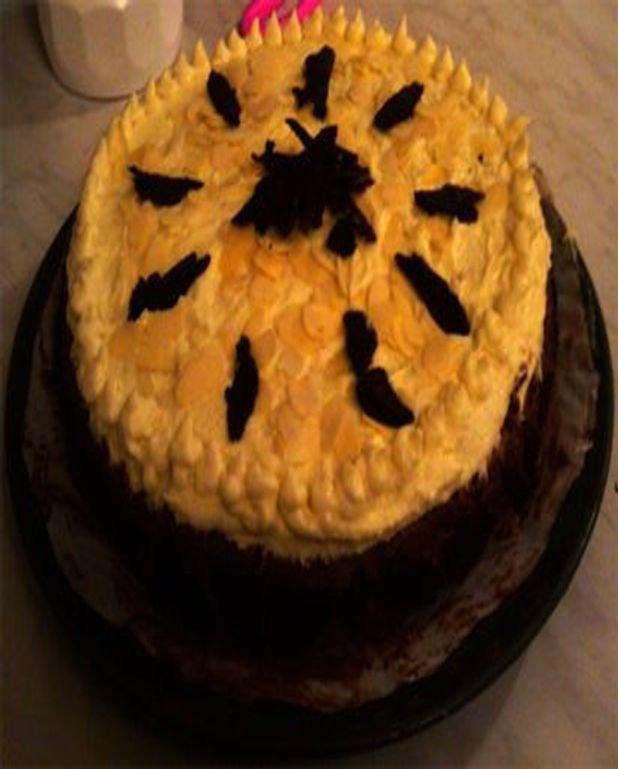 Gâteau chocolat noir et chocolat blanc