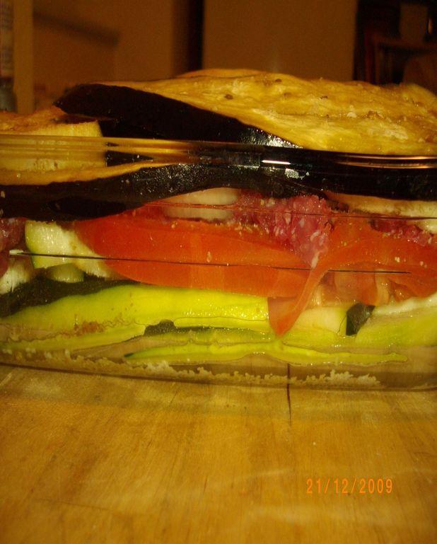 Gratin aux légumes du soleil et kefta
