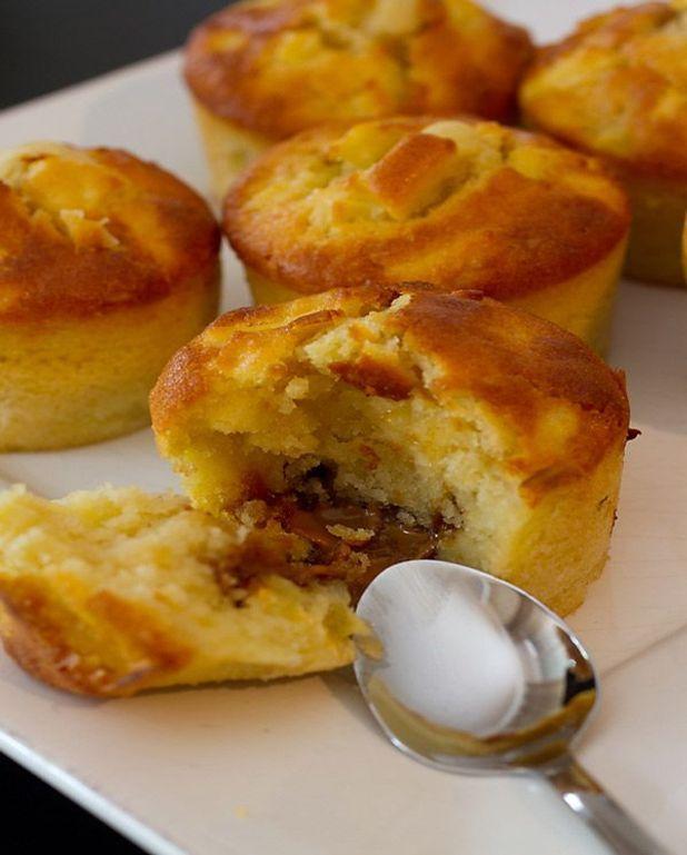 Muffins aux pommes et pâte de spéculoos