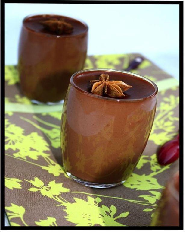Petits pots de crème au chocolat et aux épices douces