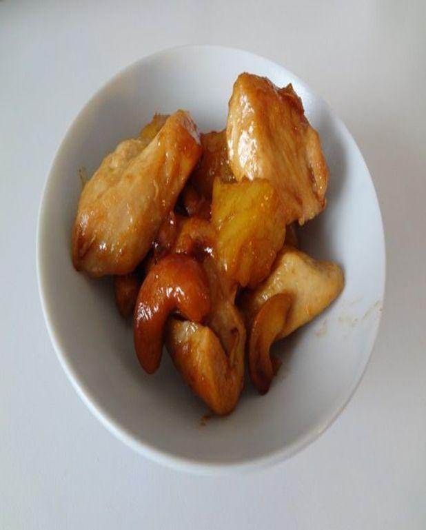Poulet à l'ananas et noix de cajou