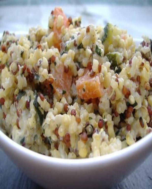 Quinoa crémeux alla ricotta, comme un risotto