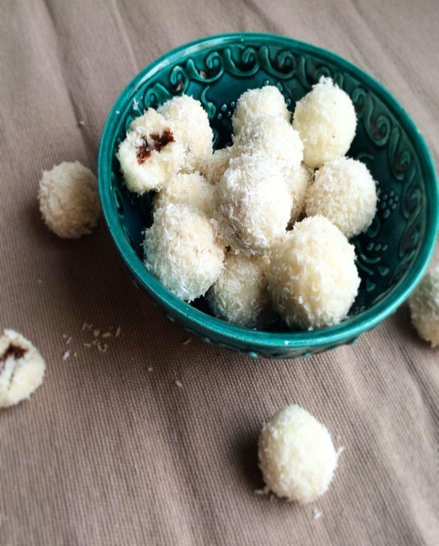 Bouchées noix de coco et ganache au chocolat