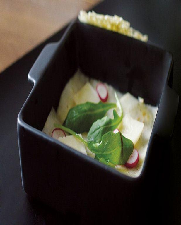 Carpaccio de poire au parmesan