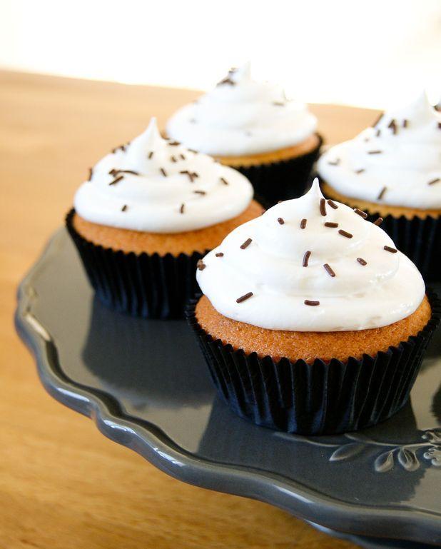 Cupcake vanille, meringue italienne