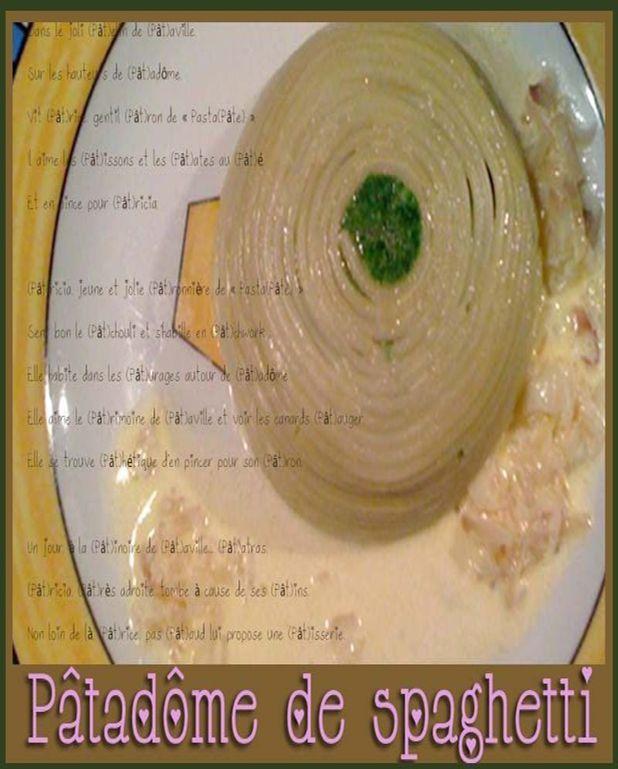 Dôme de spaghetti aux épinards