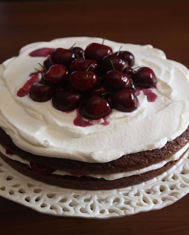 Gâteau au chocolat et cerises