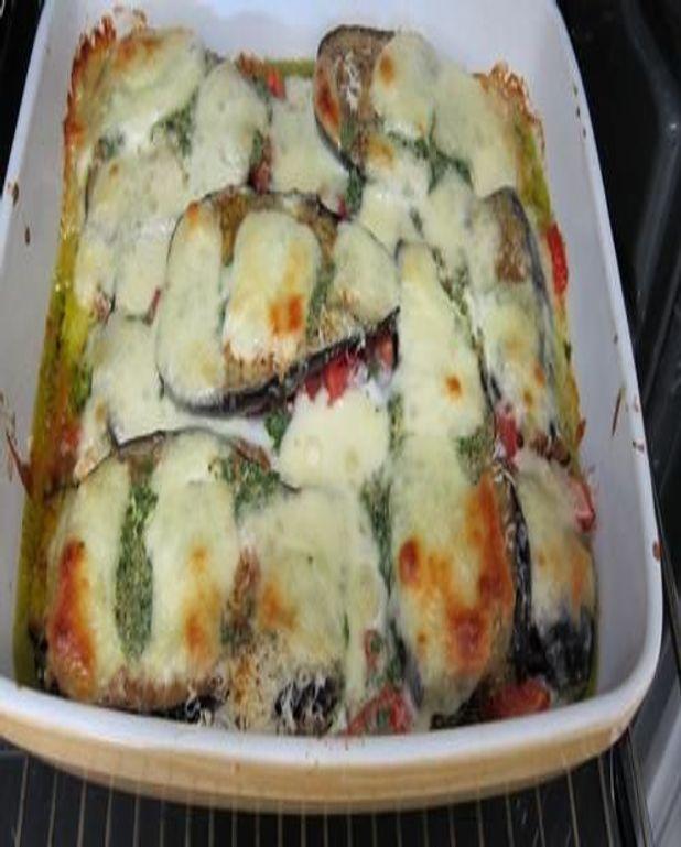 Gratin d'aubergine à la mozzarella