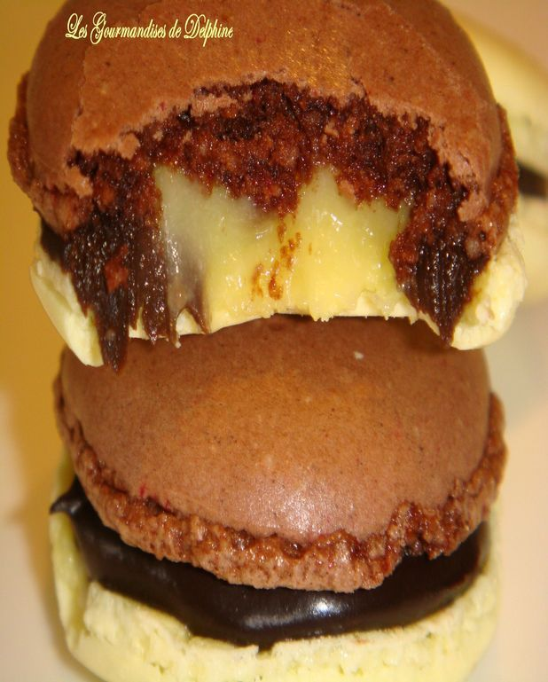 Macarons chocolat coeur de citron