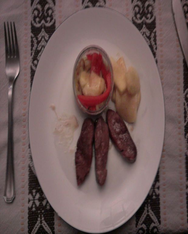 Magret de canard, petits légumes et pomme sautée