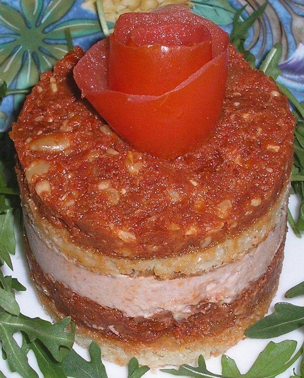 Mousse de jambon et pesto de tomates