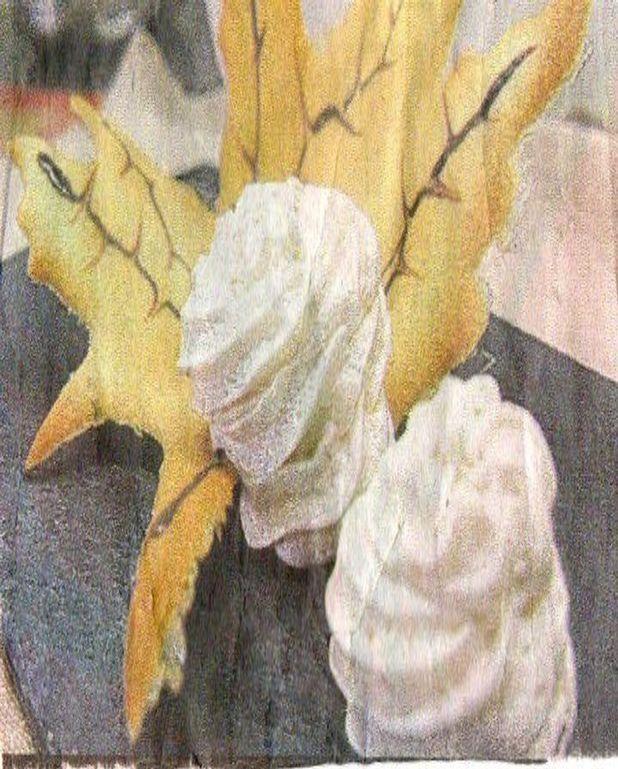 Mousse legère de marrons et sa feuille croustillante