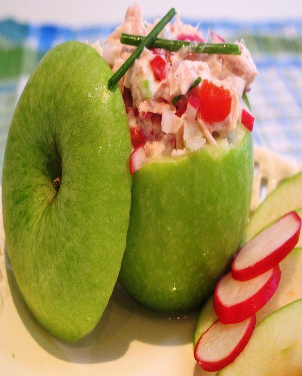Pomme farcie au thon
