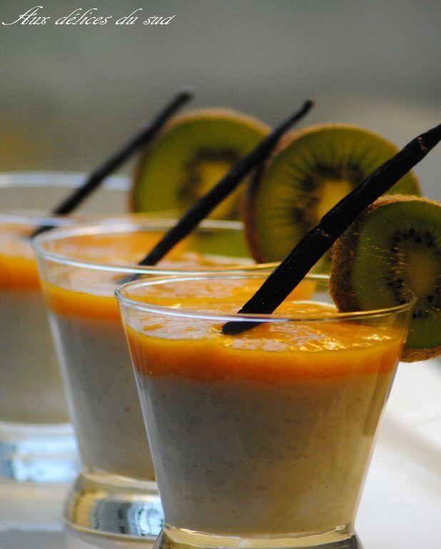 Riz au lait coco vanille, purée mangue gingembre