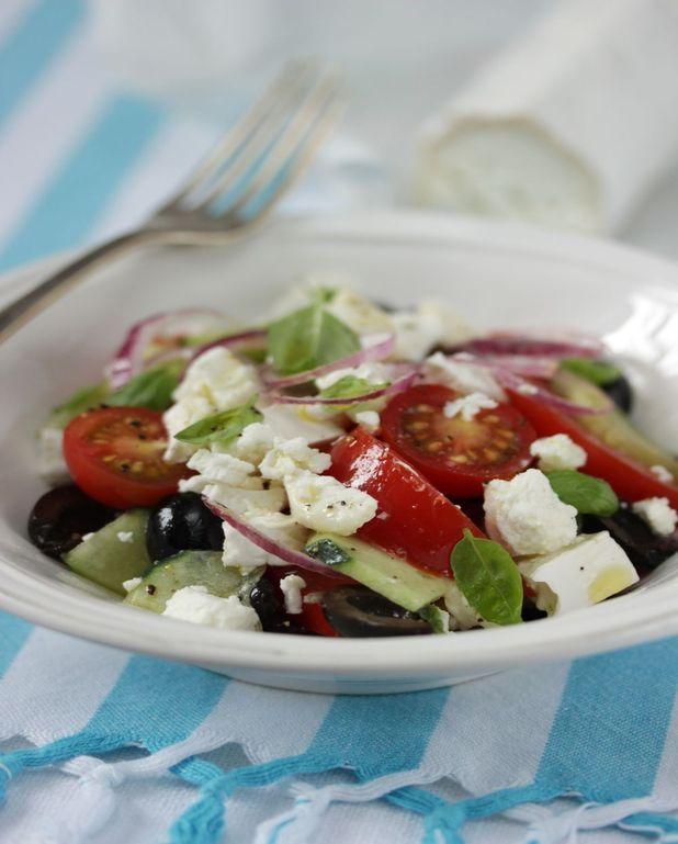 Salade grecque au fromage de chèvre