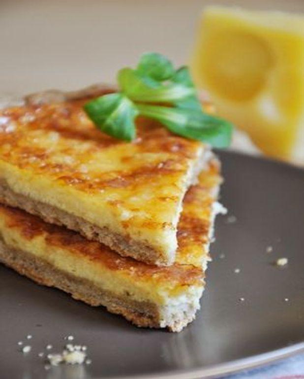 Tarte au fromage et pâte brisée à la farine de sarrasin