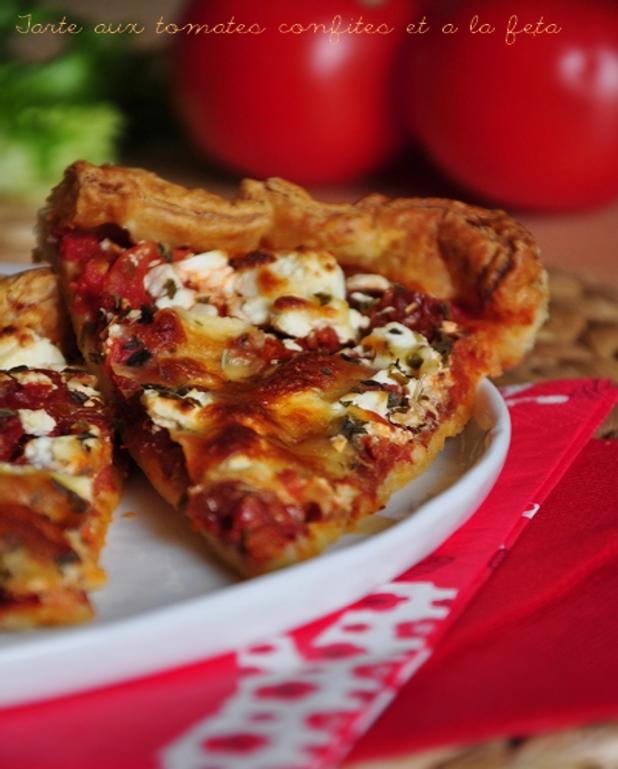 Tarte aux tomates confites et à la fêta
